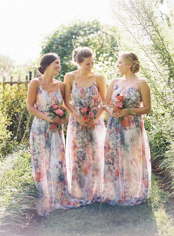 Printed-Flower-Boho-Briesmaid-Dresses