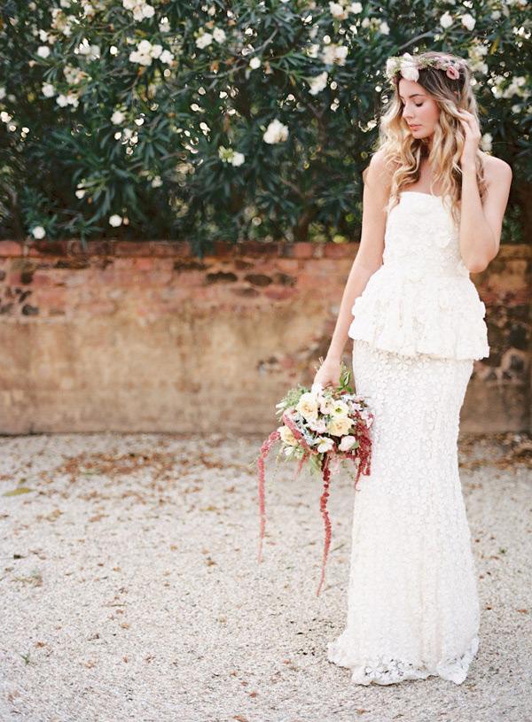 Kelsey-Genna-Strapless-Boho-Peplum-Wedding-Dress
